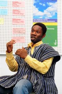 Kwame Ababio (32) aus Ghana arbeitete für eine NGO. Jetzt  studiert er in Freiburg im DAAD-geförderten Masterstudiengang Environmental Governance.
