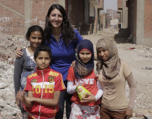Yasmin Helal's after-school programme gives children hope in Cairo  Photo: Educate Me