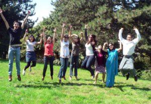 Hier seht ihr die DAAD-Stipendiaten aus meinen Masterprogramm. Ich bin die vierte von links Foto: ITT
