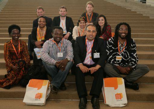 Die RLC-Doktoranden beim Global Media Forum in Bonn  Foto: Deutsche Welle