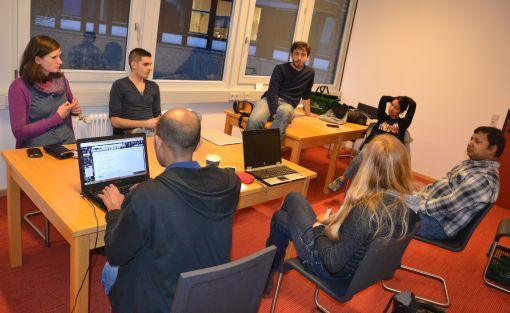 Das Organisatoren-Team bei der Arbeit © Privat