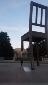 Impressive: the Broken Chair on the Place de Nations in Geneva © Private