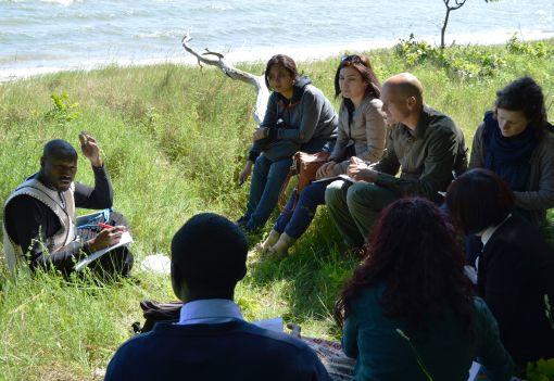 Mitten in der Natur: Internationale Alumni beurteilten den Klimaschutz auf der Insel Rügen © Esteban Guevara