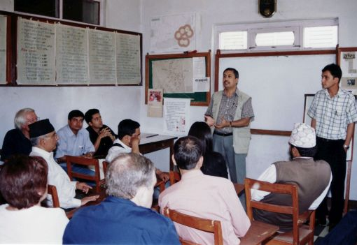 Back in Nepal: Damodar Adhikari passes on his knowledge ©Private